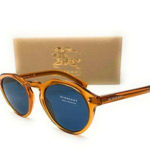 Burberry Orange Blue Lens Sunglasses